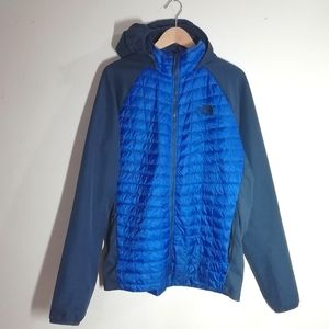 North Face Thermoball Hybrid Hooded Jacket (blue)